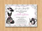 Fancy Hat Bridal Shower Invitations Tea Fancy Hat Dress Birthday Bridal Shower Personalized