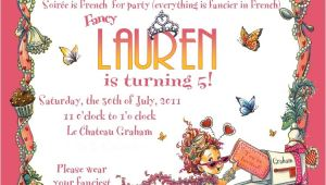 Fancy Nancy Tea Party Invitations Enjoying the Journey Lauren 39 S Fancy Nancy Birthday Party
