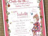 Fancy Nancy Tea Party Invitations Fancy Nancy Birthday soiree Invitation Printable File