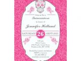 Fancy Quinceanera Invitations Fancy Damask Skull Pink Quinceanera Invitations Zazzle