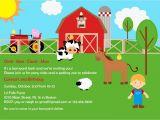 Farm Party Invitation Template Free Farm Birthday Invitations Free