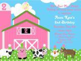 Farm Party Invitation Template Free Farm Birthday Invitations Ideas Bagvania Free Printable