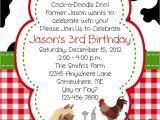 Farmyard Party Invitations Free Barn Birthday Invitations Best Party Ideas