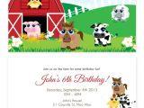 Farmyard Party Invitations Free Farm Animal Party Invitations