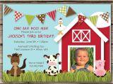 Farmyard Party Invitations Free Farmyard Fun Custom Photo Birthday Invitation for Any Age