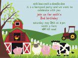 Farmyard Party Invitations Free Free Birthday Party Invitation Templates Drevio