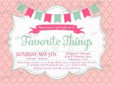 Favorite Things Birthday Party Invitation Favorite Things Party Invitation Custom Printable