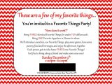 Favorite Things Birthday Party Invitation Land Of Collins My Favorite Things Party Invitation