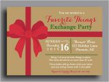 Favorite Things Christmas Party Invitation Christmas Favorite Things Invitation Printable or Printed W