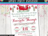 Favorite Things Christmas Party Invitation Favorite Things Christmas Party Christmas Gift Exchange