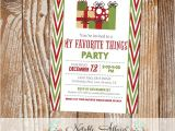 Favorite Things Christmas Party Invitation Items Similar to Side Chevron My Favorite Things Party