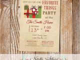 Favorite Things Christmas Party Invitation Items Similar to Vintage My Favorite Things Party