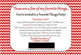 Favorite Things Christmas Party Invitation Land Of Collins My Favorite Things Party Invitation