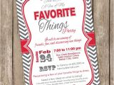 Favorite Things Party Invitation A Few Of My Favorite Things Chevron Invitation Printable