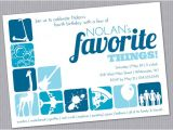 Favorite Things Party Invitation Favorite Things Birthday Party Invitation by