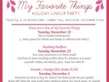 Favorite Things Party Invitation Wording Raising southern Grace these are A Few Of My Favorite