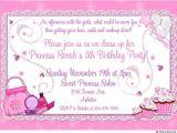 Fifth Birthday Party Invitation Wording Dress Up 5th Birthday Invitation Fairy Dust Magical