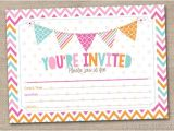Fill In Graduation Invitations Fill In Printable Party Invitations Instant by