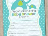 Fill In the Blank Baby Shower Invitations Ink Obsession Designs Fill In the Blank Elephant Baby