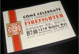 Fire Academy Graduation Invitations Fire Fighter Graduation Invite Blacky Designs