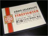 Fire Academy Graduation Invitations Fire Fighter Graduation Invite Blacky Designs