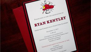 Fire Academy Graduation Invitations Red Line Fire Academy Graduation Announcement or Invitation