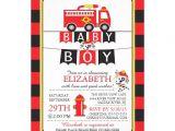 Fire Truck Baby Shower Invitations Cute Fire Truck Baby Shower Invitation