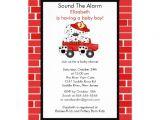 Fire Truck Baby Shower Invitations Dalmatian Fire Truck Boy Baby Shower Invitation