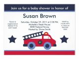 Fire Truck Baby Shower Invitations Fire Engine Truck Baby Shower Invitation
