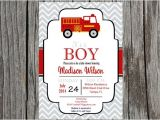 Fire Truck Baby Shower Invitations Fire Truck Baby Shower Invitation Fireman Invitation