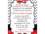 Fire Truck Baby Shower Invitations Firetruck Baby Shower Invitation