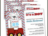 Firefighter themed Baby Shower Invitations Best Invitation Store On Etsy Lullabyloo Owner is
