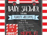 Firefighter themed Baby Shower Invitations Fire Truck Baby Shower Invitation Personalized Printable