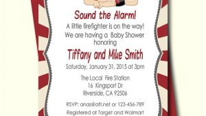 Firefighter themed Baby Shower Invitations Firefighter Baby Shower Invitation Fireman Baby Shower