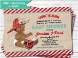 Fireman Baby Shower Invitations Firefighter Baby Shower Invitation Vintage African American