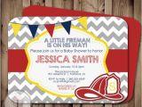 Fireman Baby Shower Invitations Fireman Baby Shower Invitation Fire Fighter Shower Fireman