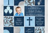 First Birthday and Baptism Invitation Wording First Birthday and Baptism Invitations