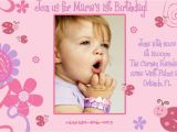 First Birthday Invitation Card Matter In English 1st Birthday Invitation Cards Templates Free