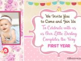 First Birthday Invitation Card Matter Unique Cute 1st Birthday Invitation Wording Ideas for Kids