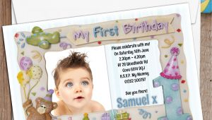 First Birthday Invitation Frames 10 Personalised First 1st Birthday Party Frame Photo