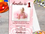 First Birthday Invitation Frames 10 Personalised Girls First Birthday Party Photo