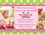 First Birthday Invitation Letter format Birthday Invitation Card Samples