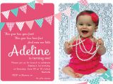 First Birthday Invitation Wordings by Baby Baby Girl S 1st Birthday Invitation Cards Ideas