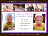 First Birthday Invitations for Twins Twins First Birthday Party Invitation Monthly by Ellerydesigns