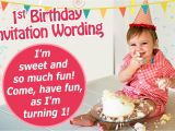 First Birthday Party Invitation Message 16 Great Examples Of 1st Birthday Invitation Wordings