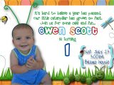 First Happy Birthday Invitation Message First Birthday Party Invitation Ideas Bagvania Free