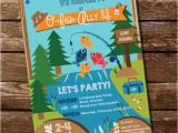 Fish themed Birthday Party Invitations Fishing Invitation Fishing Invite Gone Fishing Party