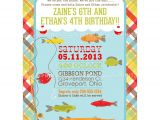Fish themed Birthday Party Invitations Fishing Printable Birthday Party Invite Dimple Prints Shop
