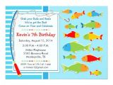 Fish themed Birthday Party Invitations Fishing theme Birthday Party Invitation Zazzle
