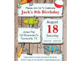 Fish themed Birthday Party Invitations Fishing theme Party Invitation Zazzle